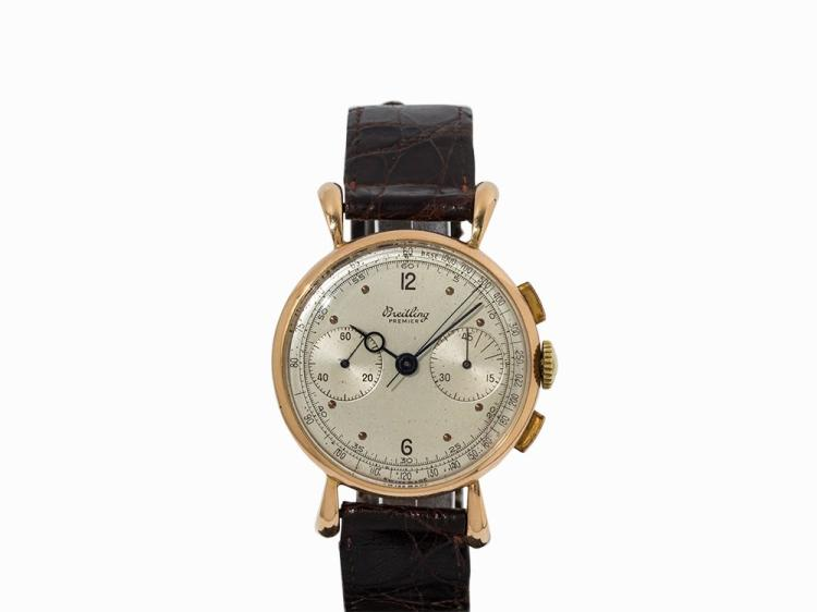 Breitling Premier Chronograph, 18K Gold, Switzerland, 1940-1943