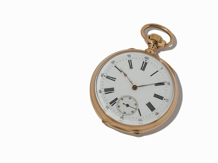 Ancre Pocketwatch, 18K Yellow Gold, c. 1900