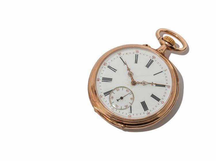 GRÂA ET NEYRENT Paris Pocket Watch Brevete, France, c. 1900