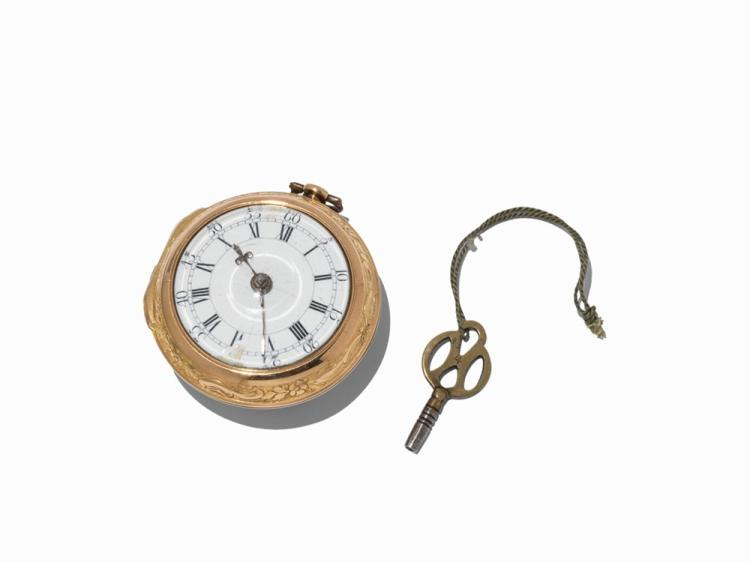 Thomas King Alnwick Spindle Pocketwatch, England, c.1775