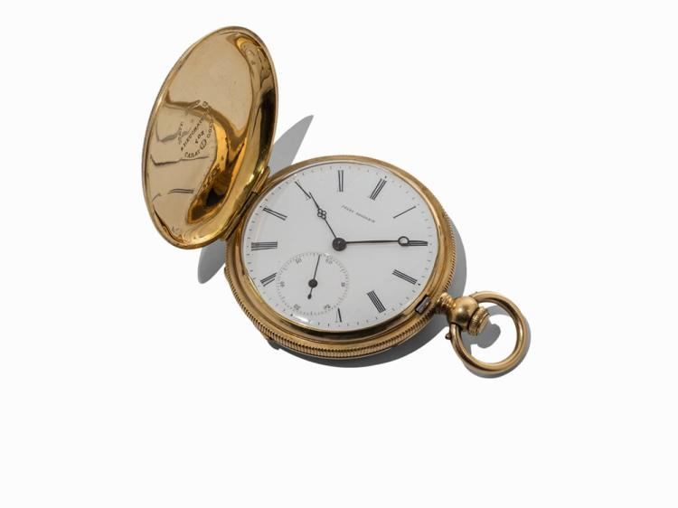 Jules Huguenin Pocket Watch, 18K Gold, Switzerland, c. 1880