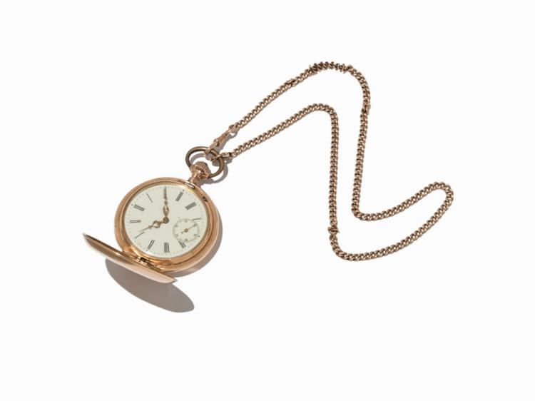 System Glashütte, Golden Pocket Watch, Germany, c. 1900