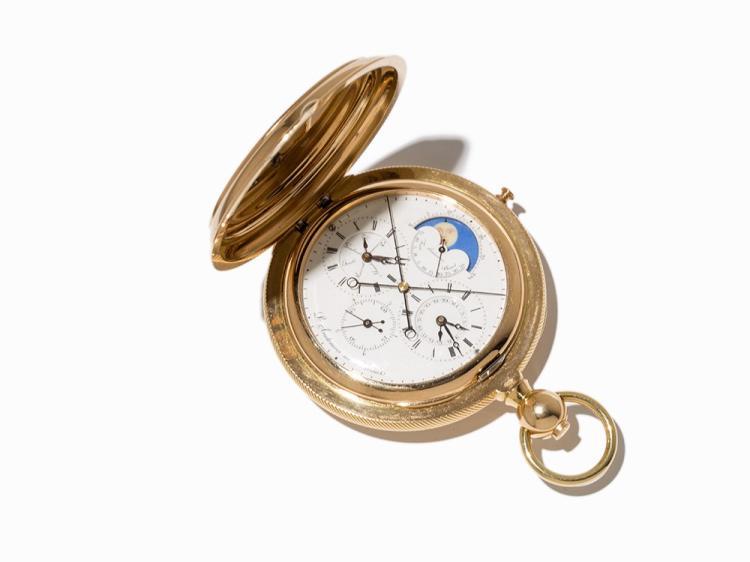 Louis Audemars, Savonette, Chronograph-Rattrapante Morte