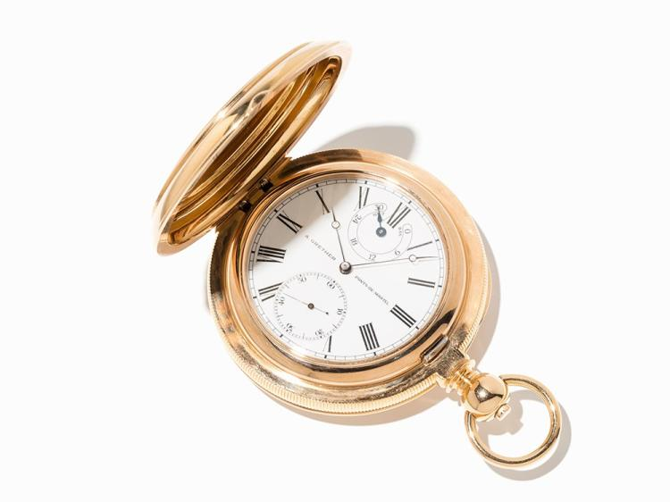 Louis Audemars Gold Hunter with one-minute Tourbillon, C.1850