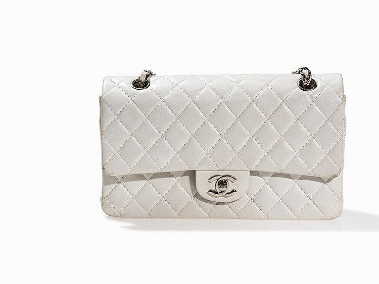 Lot 5  Chanel, White Quilted Classic Flap Bag 2.55, 1997-1999 6106fe03b3