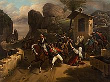 Copy after Emile Vernet, The Attack, Oil Painting, c. 1850
