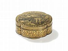 Komai Metal Miniature Box and Cover with Gold, Meiji