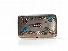 Russian Silver Snuffbox with Coats of Arms, Moscow, 1871