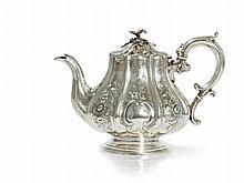 Victorian Sterling Silver Teapot, Ireland, 1851