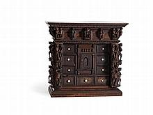 Carved Walnut 'Bambocci' Cabinet with Figures, Italy, 19th C