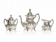 Three-Piece Silver Set, Poole Silver Company, USA, 20th Century