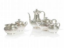 Tiffany & Co. Silver Set with Pomegranate Decoration, 20th C