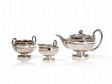 Sterling Silver Tea Set, Robert Gray & Son, Glasgow, 1820/21