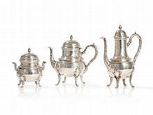 Tétard for Maison Odiot, Silver Tea & Coffee Set, 19th C