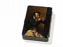 Stobwasser Tobacco Box 'Le fumeur' after Boilly, 19th C