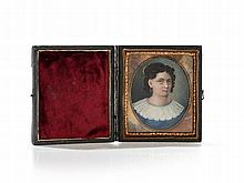 Miniature Portrait of a Lady in Original Case, New York c. 1855