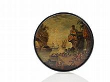 Pres. Stobwasser, Tobacco Box with Vernet Harbor Scene, 19th C