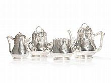 Tiffany & Co. Silver Tea Set with Strawberry Decoration, c.1854