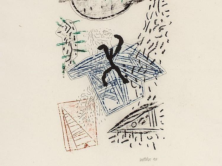 "Mixed Technique on Paper, ""Untitled"", Daniel Butcher, 1993"