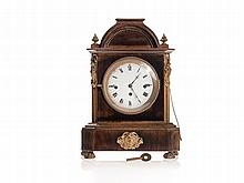 Wooden Mantel Clock, Late Biedermeier, Austria, c. 1850