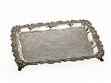Historical silver tray by Odiot, France, around 1830/35