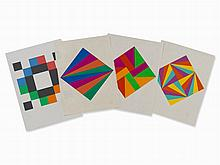 Max Bill, 4 Compositions, Serigraphs in Colors, 1978-90