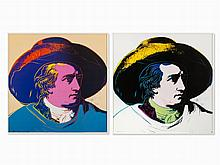 After Andy Warhol, Goethe, 2 Posters, 1993
