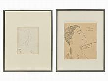 Andy Warhol, 2 Sheets, Offset Lithographs, around 1954 and 1956