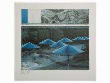 Christo & Jeanne-Claude, The Umbrellas, Japan, Offset, 1991