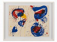 Sam Francis, Hurrah for the Red, White and Blue, 1961