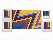 Howard Mehring, 4 Abstract Compositions, 1970s