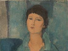 Aldo Salvadori, Ritratto di ragazza, Painting, 1950