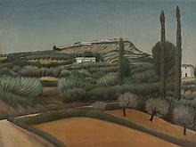 Riccardo Francalancia, Silvi Alta, Oil Painting, 1947