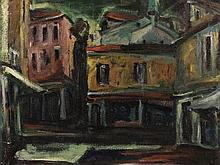 Bepi Longo, Fano, Oil Painting, 1953