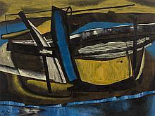 Mattia Moreni, Canale Candiano, Oil Painting, 1952