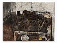 Luigi Guerricchio, Interno, Oil Painting, 1958