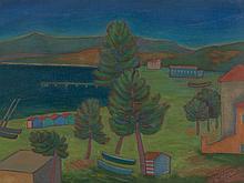 Nicola Galante, Spiaggia di Vasto, Oil Painting, 1954