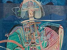 Beppe Devalle, Fiori Figura Paesaggio, Mixed Media, 1963