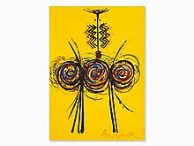 Roberto Crippa, Totem (Yellow), Acrylic, around 1970