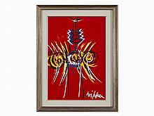 Roberto Crippa, Totem (Red), Acrylic, around 1970