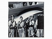 Equipo Realidad, Legionarios, Oil Painting, 1974