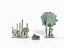 Klaus Ihlenfeld, 3 Prehistoric Plants, Bronze Sculpture, 2000's