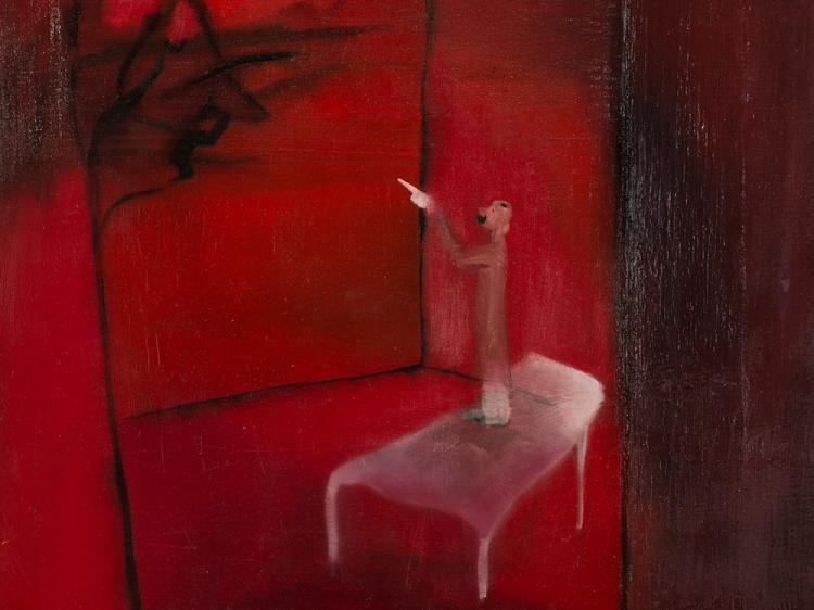 Marco Cingolani, Il Sogno di Nietzsche, Oil, 1998