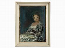 Bernhard Heisig, Portrait of Eva Fleischer, Oil Painting, 1964