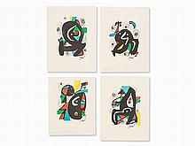 Joan Miró, From 'La Mélodie Acide', 4 Lithographs, 1980