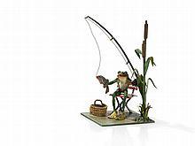 Bergmann Vienna Bronze 'Fishing Frog', around 1950