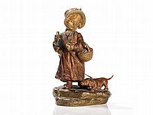 Bergmann Vienna Bronze 'Girl with Dachshund', c.1920