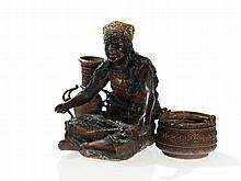 Bergmann Vienna Bronze, Metal Sculpture 'Gipsy Woman', c. 1890