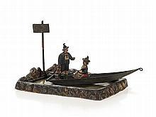 Bergmann Vienna Bronze 'Couple on a Boat Trip', c. 1900