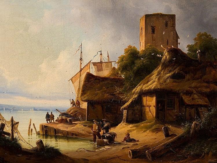 A. Wilhelm John (1813-c. 1848), Coastal Landscape, 1839